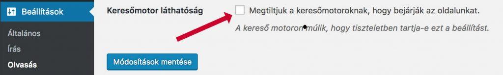 opciók jelzik a weboldalt