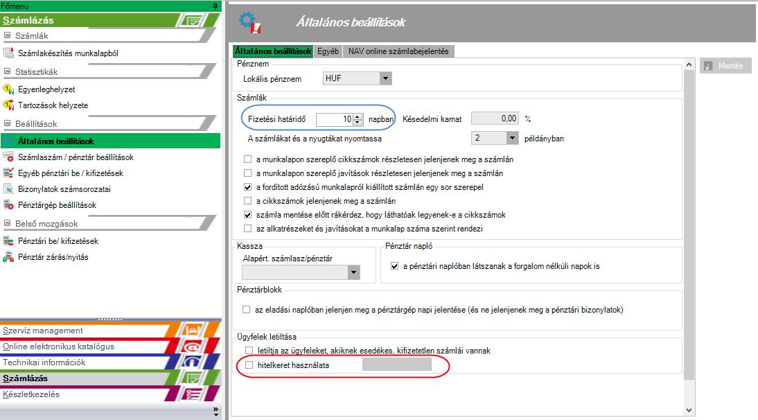 opciók kifizetési képernyője)