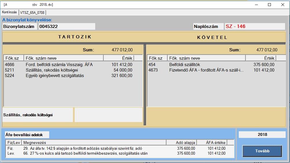 könyvelési lehetőségek könyvelése)
