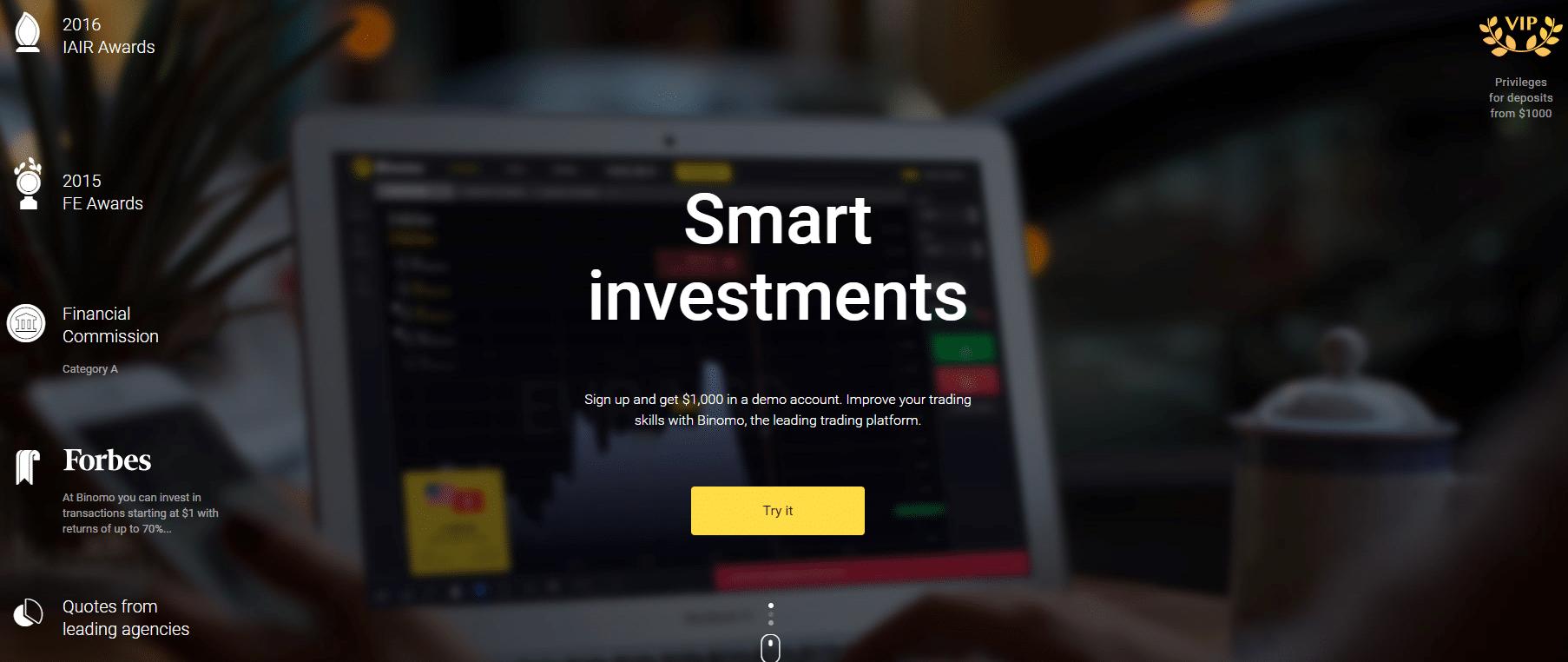 binomo opció weboldal demo számla