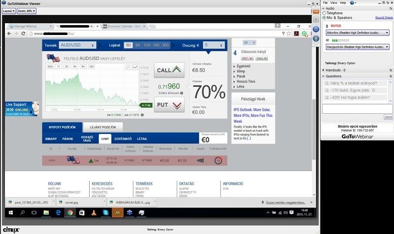bináris opciók képernyőképe