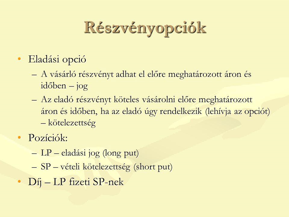 opciók meghatározása)