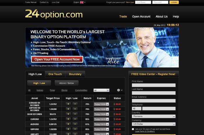 24Option megvitatja a bináris opciók kereskedelmének előnyeit - Dobrebit Coin