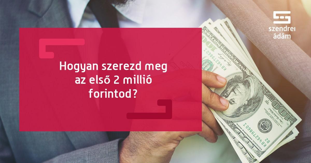 hogy sok pénzt kerestem)