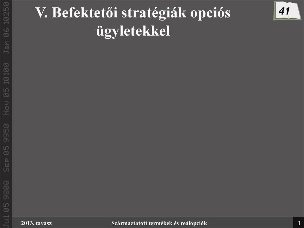 opciós stratégia értékelése